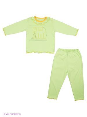 Пижама SOFT SECRET. Цвет: салатовый, желтый