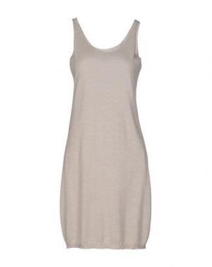Короткое платье LAMBERTO LOSANI. Цвет: бежевый