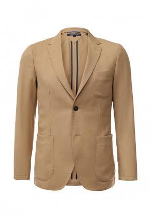 Пиджак Tommy Hilfiger. Цвет: бежевый