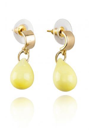 Серьги 117058 Nach Jewellery. Цвет: желтый