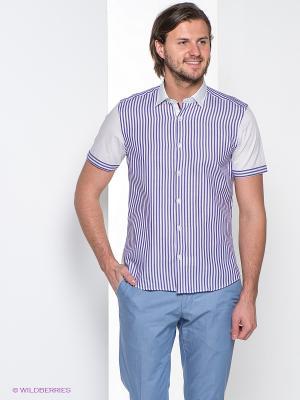 Рубашка MONDIGO. Цвет: белый, фиолетовый