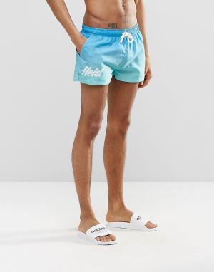 Heist Короткие шорты для плавания. Цвет: синий