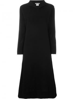 Платье с перфорацией Issey Miyake Vintage. Цвет: чёрный