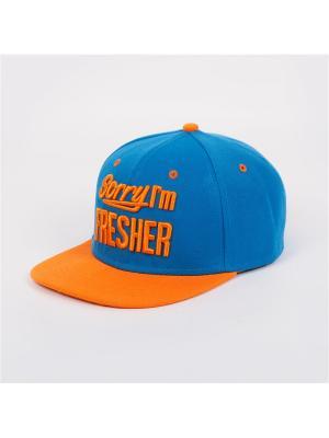 Бейсболка TRUESPIN Sorry Iam Fresher True Spin. Цвет: синий,оранжевый