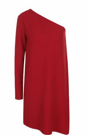 Мини-платье с открытым плечом и длинным рукавом Theory. Цвет: красный
