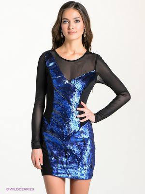 Платье bebe. Цвет: синий, серый, черный