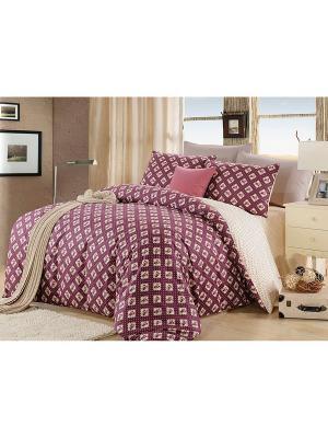 Комплект постельного белья, Юджени, 2-х спальный KAZANOV.A.. Цвет: бордовый