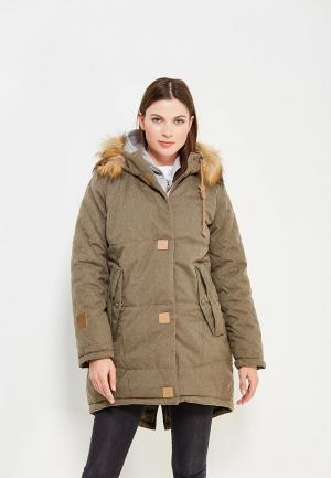Куртка утепленная Alpex. Цвет: хаки