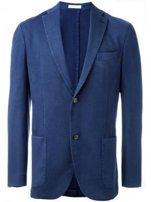 Пиджак с накладными карманами Boglioli. Цвет: синий