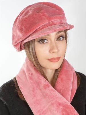 Кепка, шарф LORICCI. Цвет: розовый