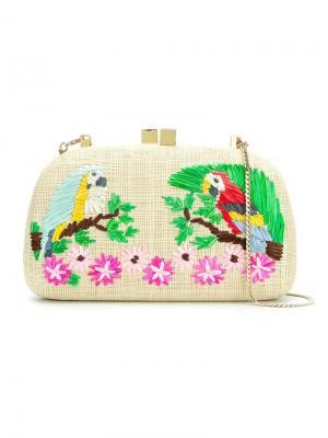 Straw clutch bag Serpui. Цвет: многоцветный