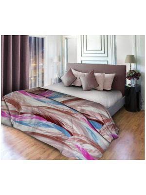 Плед WIN collection. Цвет: бежевый, бледно-розовый, коричневый, сиреневый