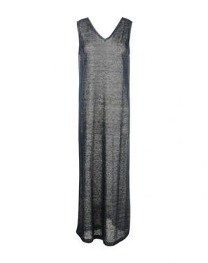 Длинное платье ZHELDA. Цвет: темно-синий