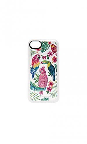 Чехол для iphone 7 tropical birds Casetify. Цвет: синий