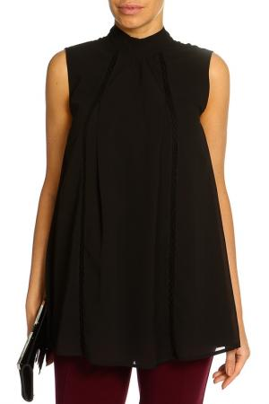 Блузка Marks & Spencer. Цвет: черный микс