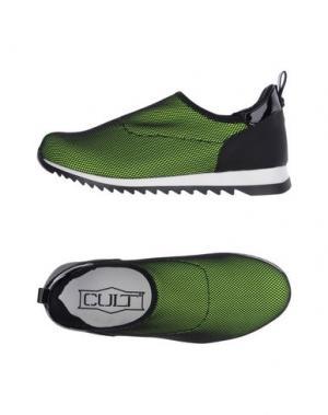 Низкие кеды и кроссовки CULT. Цвет: кислотно-зеленый