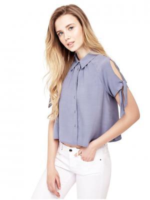 Блузка GUESS. Цвет: серый, синий