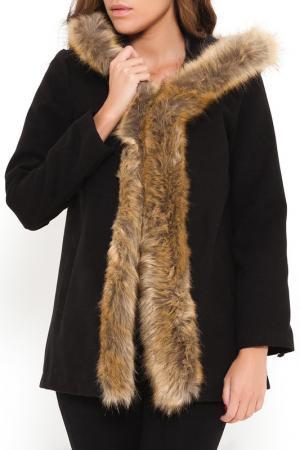 Пальто SHES SECRET SHE'S. Цвет: черный