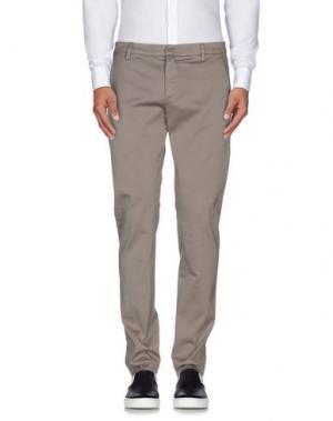 Повседневные брюки DONDUP. Цвет: голубиный серый