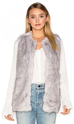Жилетка из искусственного меха silver lining Unreal Fur. Цвет: светло-серый