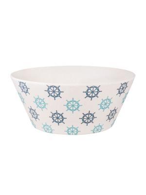 Набор салатников Нэви Хелм Ecowoo. Цвет: белый, голубой