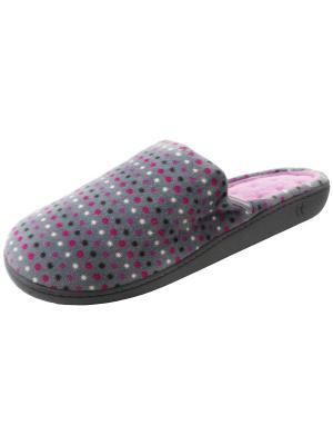 Тапочки Isotoner. Цвет: серый, белый, розовый