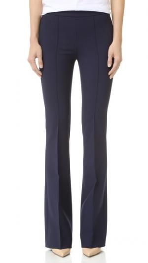 Расклешенные брюки Victoria Beckham. Цвет: темно-синий/нашивка в виде фруктов
