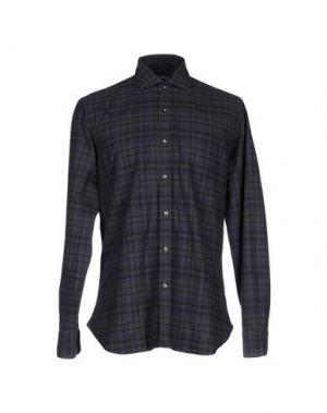 Pубашка DANDYLIFE BY BARBA. Цвет: стальной серый