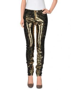 Повседневные брюки LEROCK. Цвет: золотистый