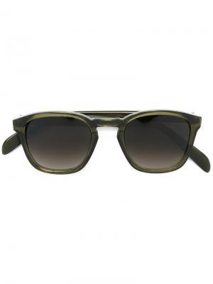 Солнцезащитные очки Genoa E. Tautz. Цвет: зелёный