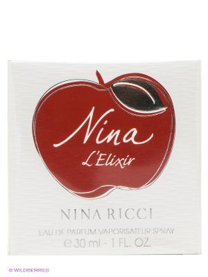 Парфюмерная вода Nina Elixir, 30 мл RICCI. Цвет: красный, белый