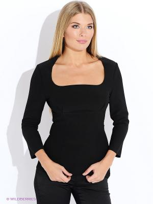 Блузка Oodji. Цвет: черный