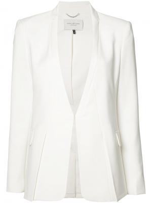 Однотонный пиджак Halston Heritage. Цвет: белый