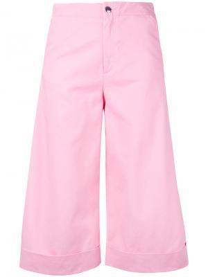Расклешенные укороченные брюки The Seafarer. Цвет: розовый и фиолетовый