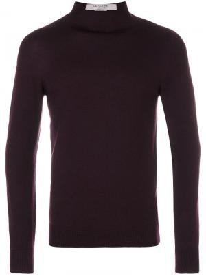Пуловер с высокой горловиной La Fileria For Daniello D'aniello. Цвет: розовый и фиолетовый