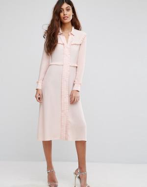 Little White Lies Платье-рубашка. Цвет: розовый