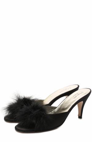 Атласные домашние туфли Homers At Home. Цвет: черный