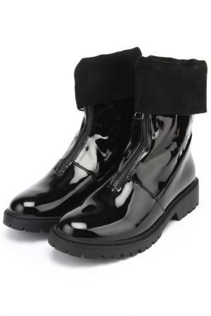 Ботинки Araz. Цвет: черный, лак