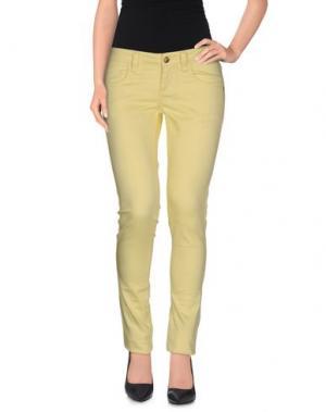 Повседневные брюки MONKEE GENES. Цвет: светло-желтый
