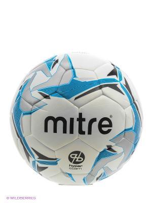 Мяч футбольный MITRE ASTRO DIVISION HYPERSEAM. Цвет: белый, черный, серый, голубой