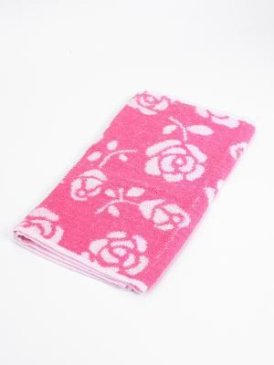 Полотенце Цветы La Pastel. Цвет: розовый, белый