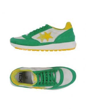 Низкие кеды и кроссовки 2STAR. Цвет: зеленый