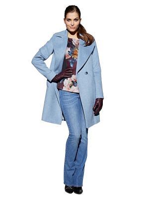 Пальто APART. Цвет: синий, серый