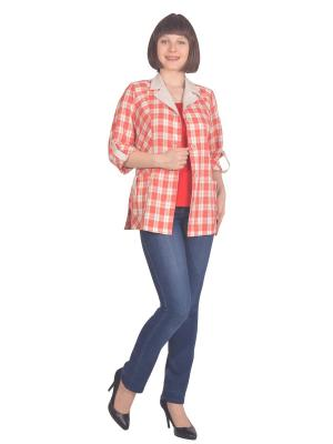 Жакет Томилочка Мода ТМ. Цвет: бежевый, красный
