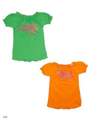 Кофточки, 2 штуки Babycollection. Цвет: оранжевый, зеленый