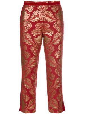 Укороченные жаккардовые брюки Christian Pellizzari. Цвет: красный