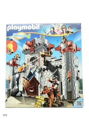 Возьми с собой: Черный замок Барона Супер4 Playmobil. Цвет: серый