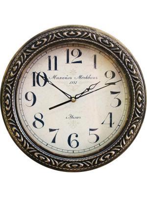 Часы настенные Михаилъ Москвинъ. Цвет: темно-коричневый, золотистый