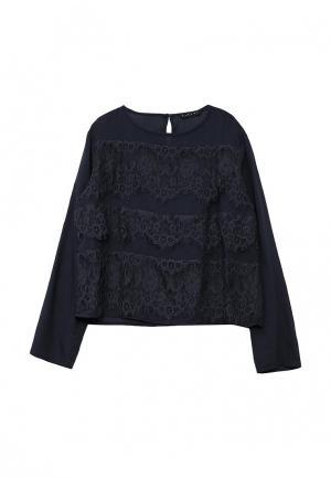Блуза Sisley. Цвет: синий