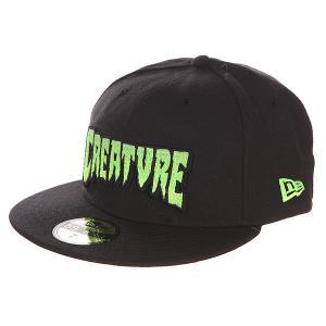 Бейсболка с прямым козырьком  Logo Fade New Era Black Creature. Цвет: черный